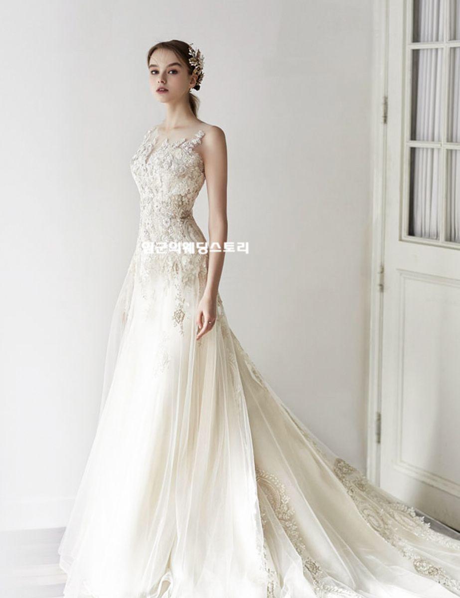 Luxurious Jubilee Bride korea wedding dress  Cô dâu, Đám cưới