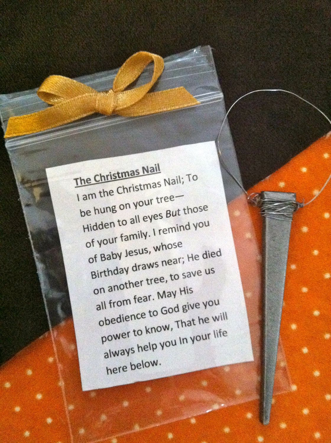 The christmas nail ornament - The Christmas Nail Ornament To Remember The True Meaning Of Christmas 2 25 Via