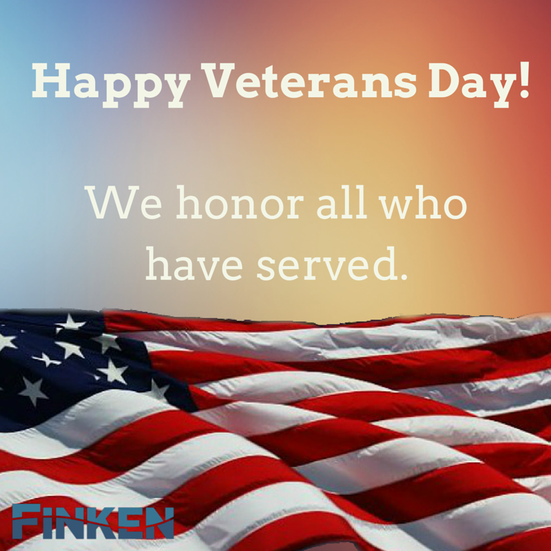 We Would Like To Thank All Of Our Veterans For Serving Our Country