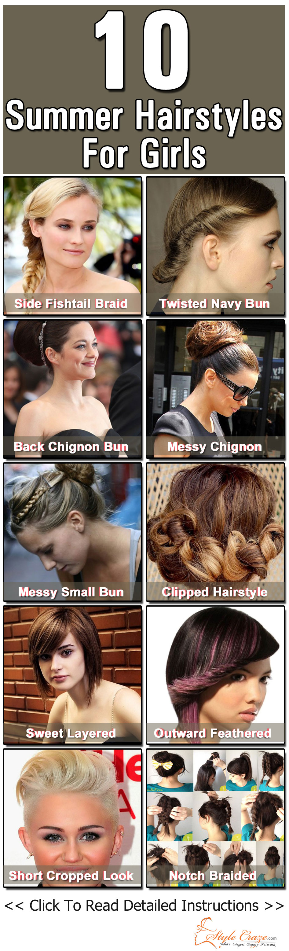 Top 10 Summer Hairstyles For Girls