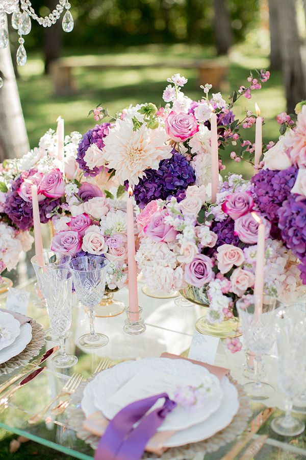 Pastel Wedding Colors Centerpieces Table Decor Pinterest