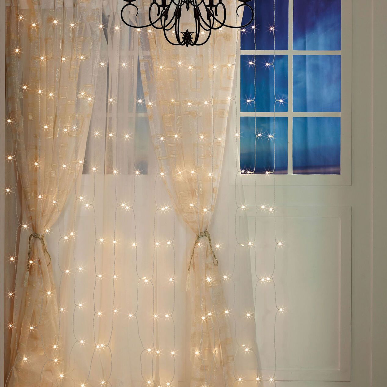 8 Led Curtain Light Set In 2020 Curtain Lights Led Curtain Curtains