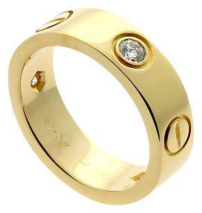 Cartier Cartier Love Diamond Yellow Gold Ring
