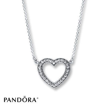 Jared PANDORA 177 Necklace Loving Hearts Sterling Silver