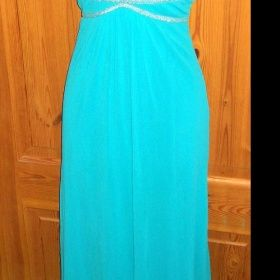 Tyrkysově modré dlouhé večerní šaty Jane Norman - foto č. 1 4587ac1a0d