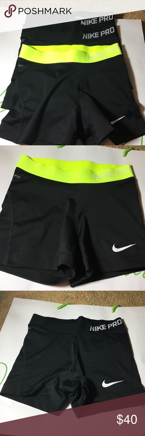 3 pairs of Nike Pro spandex! Great condition. Worn only once or twice. Nike Other