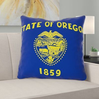 East Urban Home Centers Oregon Flag In Poly Proplin Throw Pillow Concealed Zipper Indoo Throw Pillows Outdoor Pillow Covers Pillows