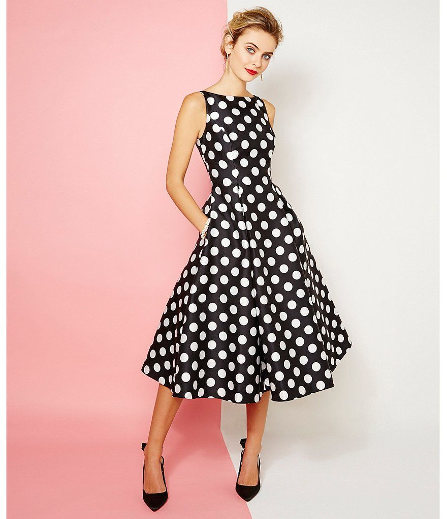b5065335686 Adrianna Papell Polka Dot Mikado Dress