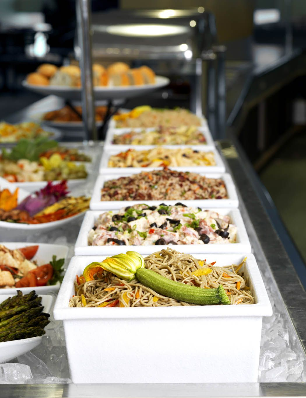 Bugambilia__square Salad Bar Bowls On Ice Comes In 22 Different  # Buffet Metal Rouge