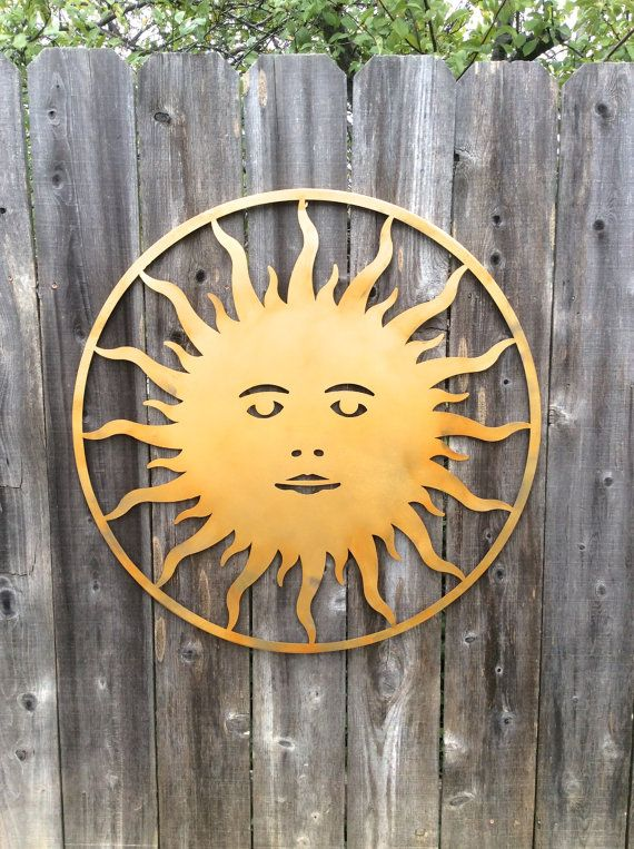 Metal Sun Metal Sun Wall Art Outdoor Sun Large by honeywoodhome ...
