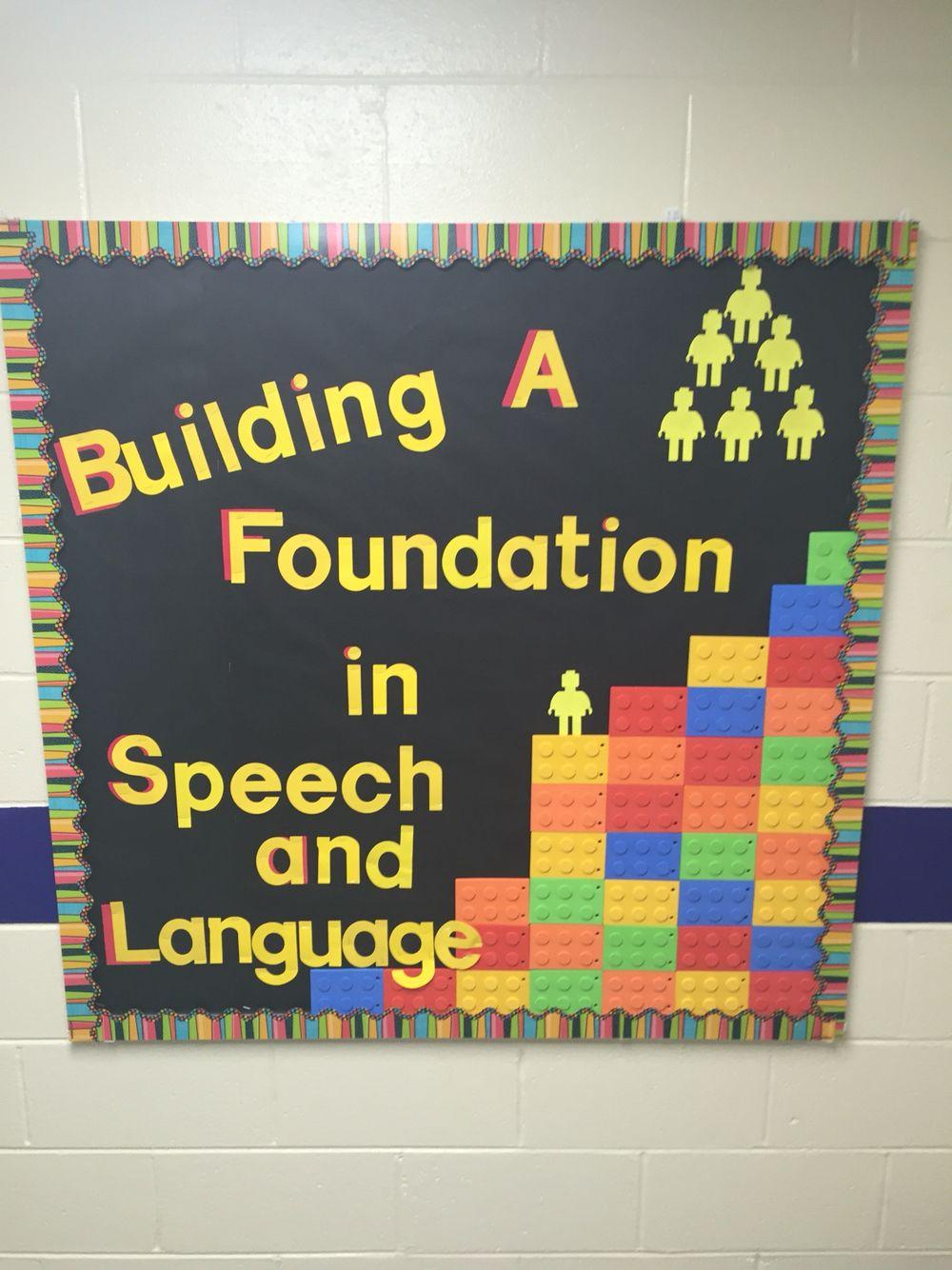 Lego Bulletin Board Speech Therapy   Speech bulletin ...