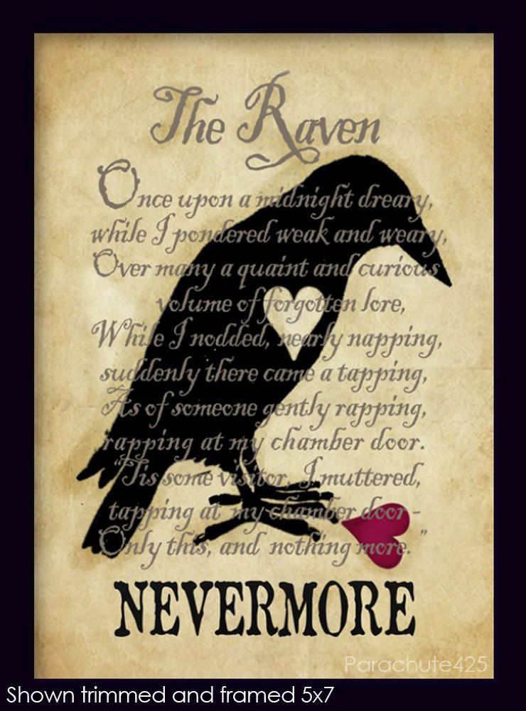 a literary analysis of the poem the raven by edgar allan poe This video introduces edgar allan poe's 'the raven' through poe's use of poetic devices and dark romantic characteristics, he is able to achieve the 'unity of effect' to appeal to critics and the.