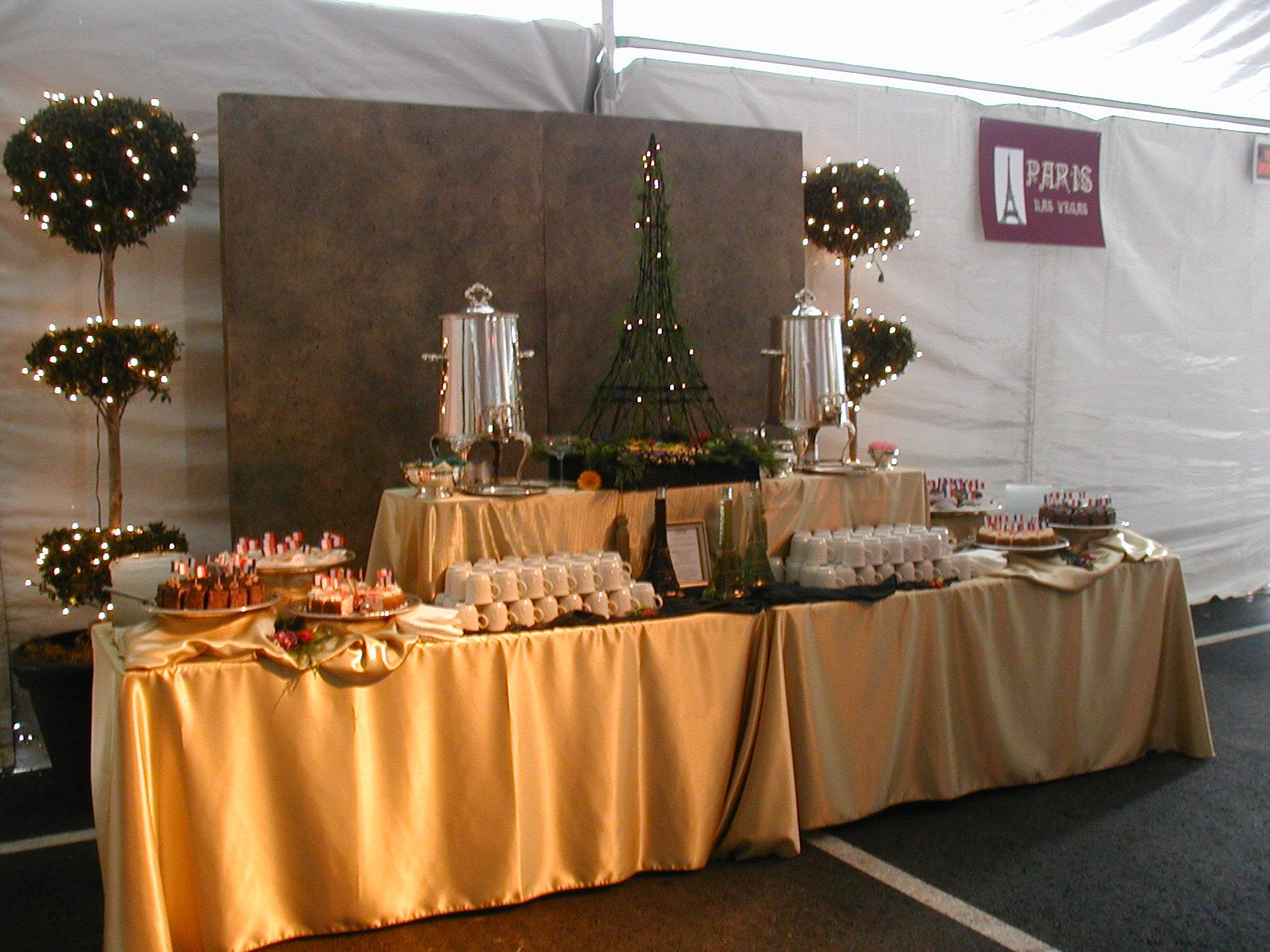 Paris dessert and coffee station stations not buffets