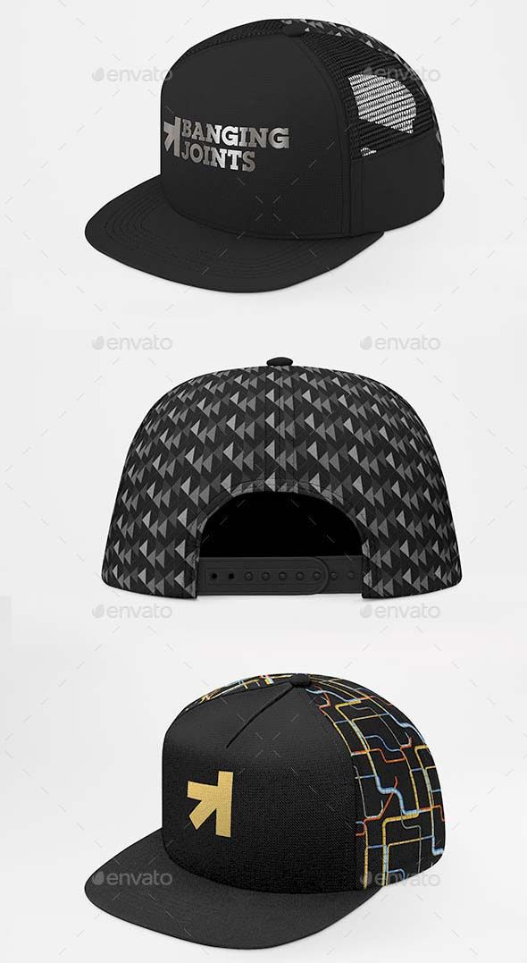 Baseball Trucker Full Cap Mockup Free Graphic Design Templates Free Design Mockup