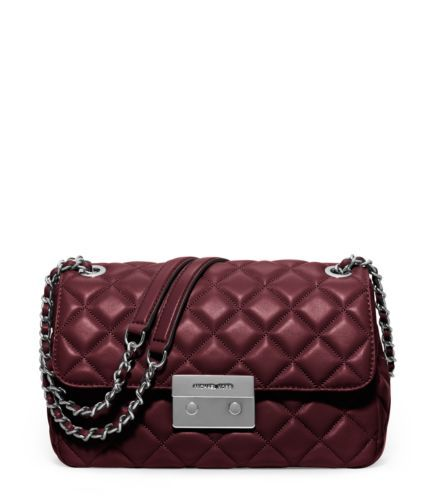 24fd8db356f459 MICHAEL Michael Kors Sloan Large Quilted-Leather Shoulder Bag | IN ...