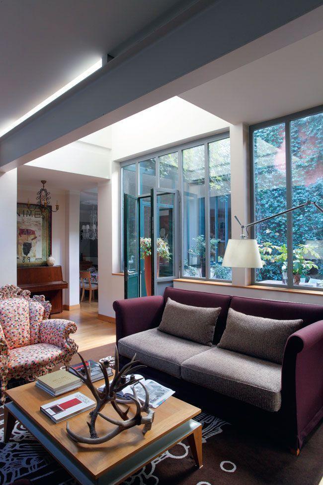 Le patio au coeur de la maison familiale de Bruno Borrione - Magazine Deco Maison Gratuit