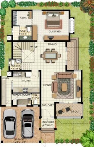 Bungalow House Plans | Bungalow Map Design | Floor Plan India ...