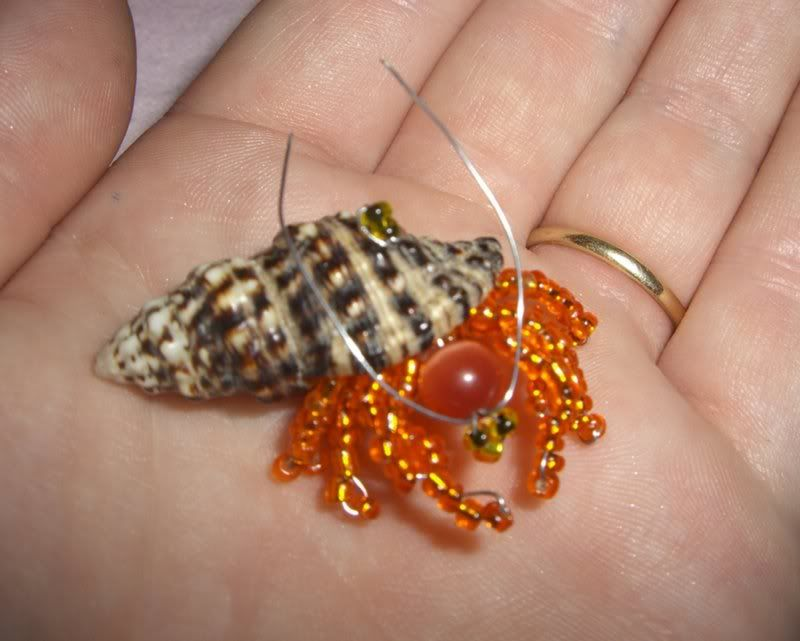 crab in a shell - Beaded bugs | Beaded Insect Book Bead Bugs Pic #22 - page no longer exists
