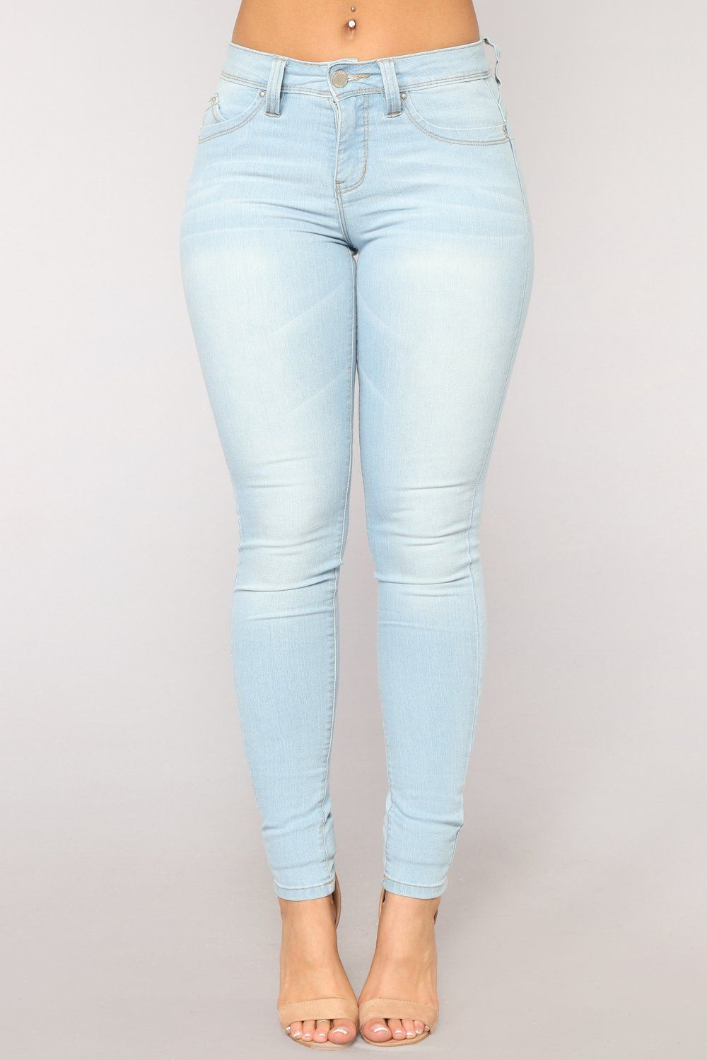 ea4172c7266 The Good Life Mid Rise Skinny Jeans - Light Blue Wash