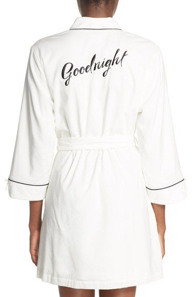 kate spade new york 'goodnight' short lawn robe available at #Nordstrom