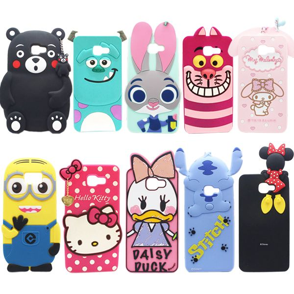 d662f313f16 11 Types For Samsung Galaxy A9 Case Lovely Cute 3D Cartoon Soft Silicon  Cover For Samsung