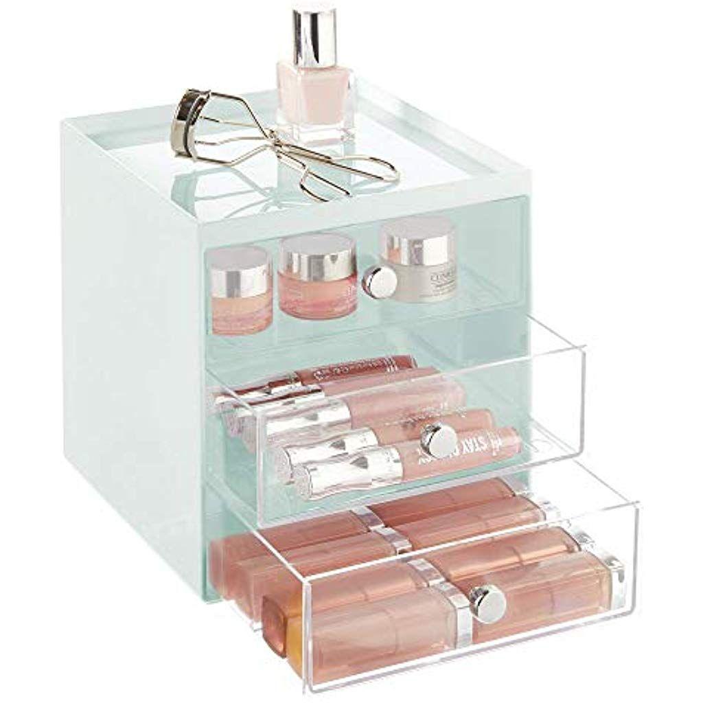 Mdesign Porta Trucchi In Plastica Con 3 Cassetti Cassettiera