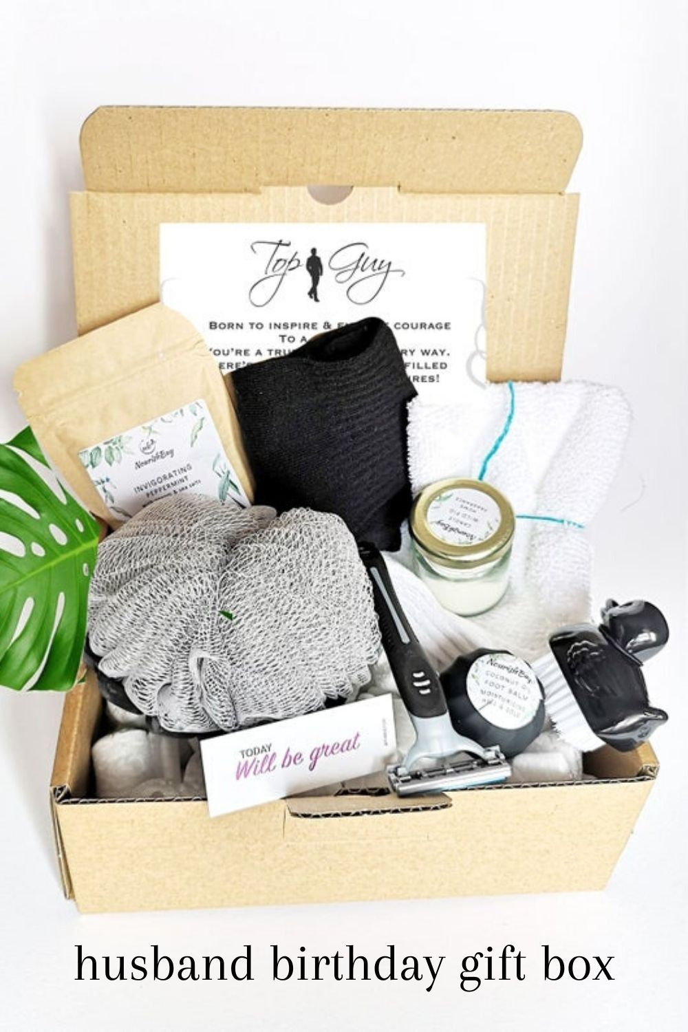 Fathers day mens gift box self care for men gift for dad