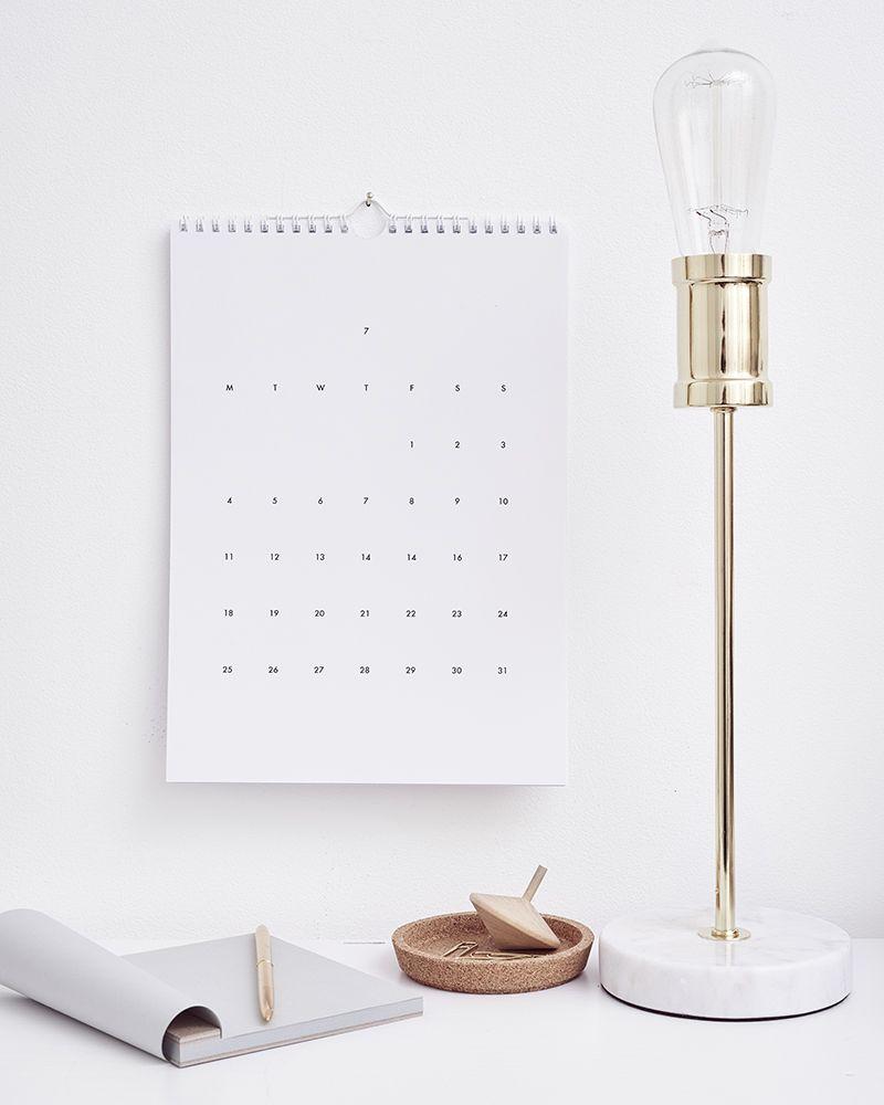 WEEKDAYCARNIVAL : Calendar 2016 | Giveaway | stylish chic minimalist stationary | classy home decor | organization |
