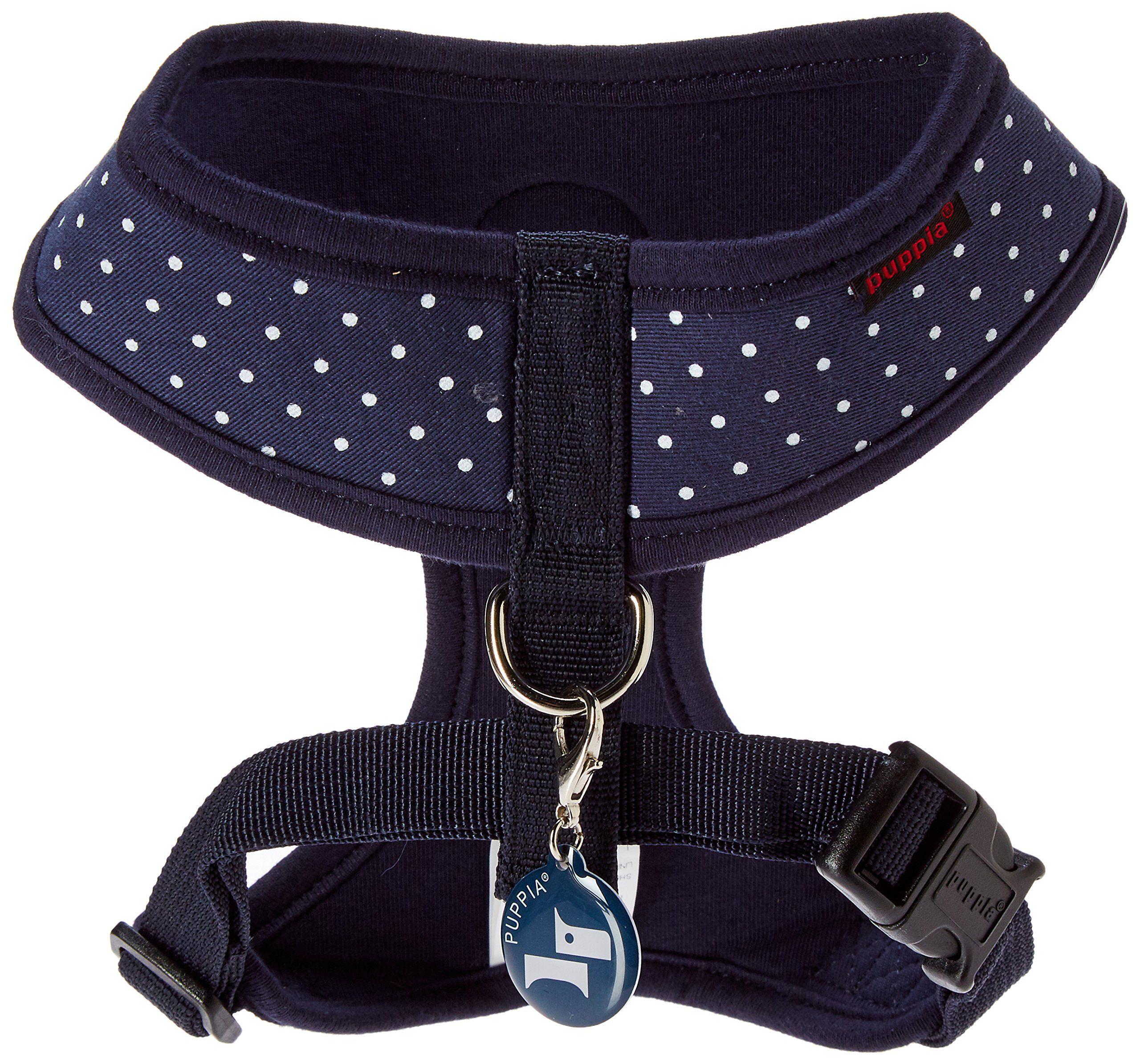Puppia Paraha1529nym Navy Dotty Harness Ii A