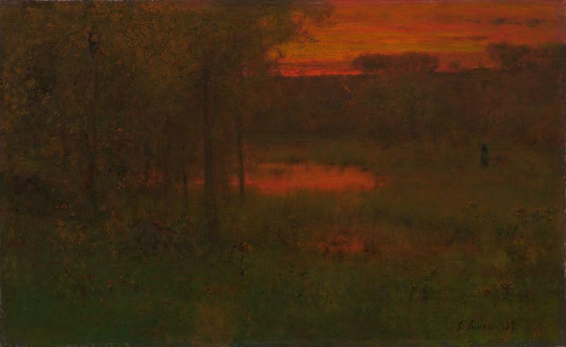 "George Inness - ""Landscape, Sunset"" - 1887/89"