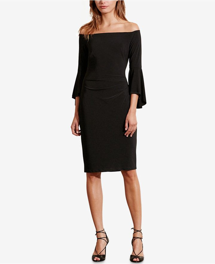 Lauren Ralph Lauren Women/'s Off the Shoulder Dress