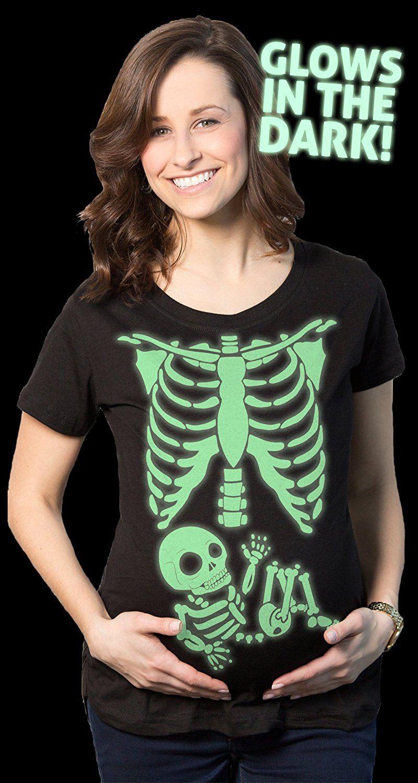 crazy dog tshirts maternity skeleton baby t shirt halloween costume