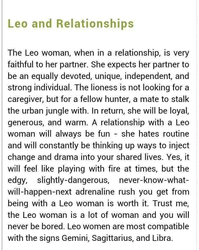 Rules for dating a leo man