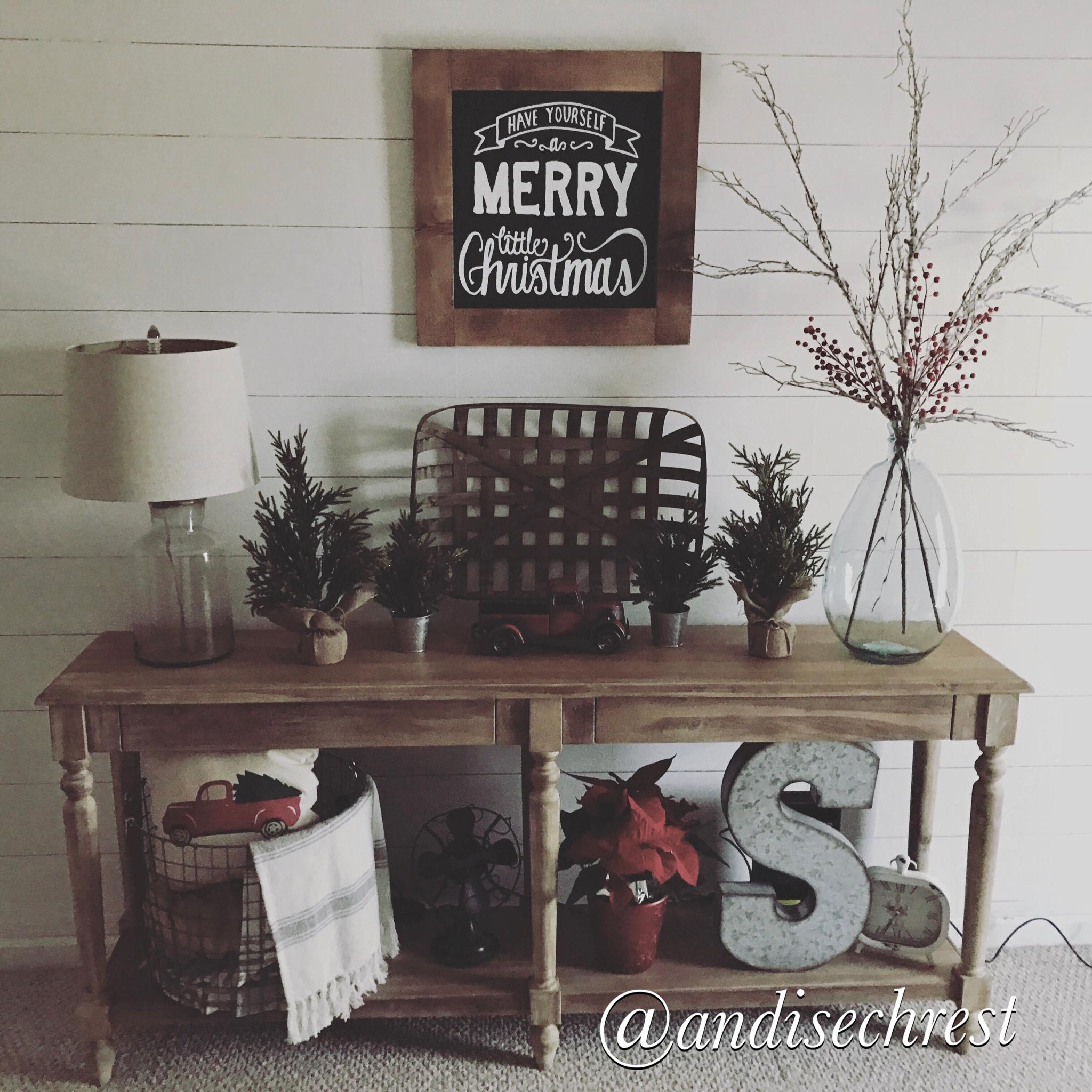 World Market Everett Foyer Table. Christmas Decoration. Farmhouse Decor