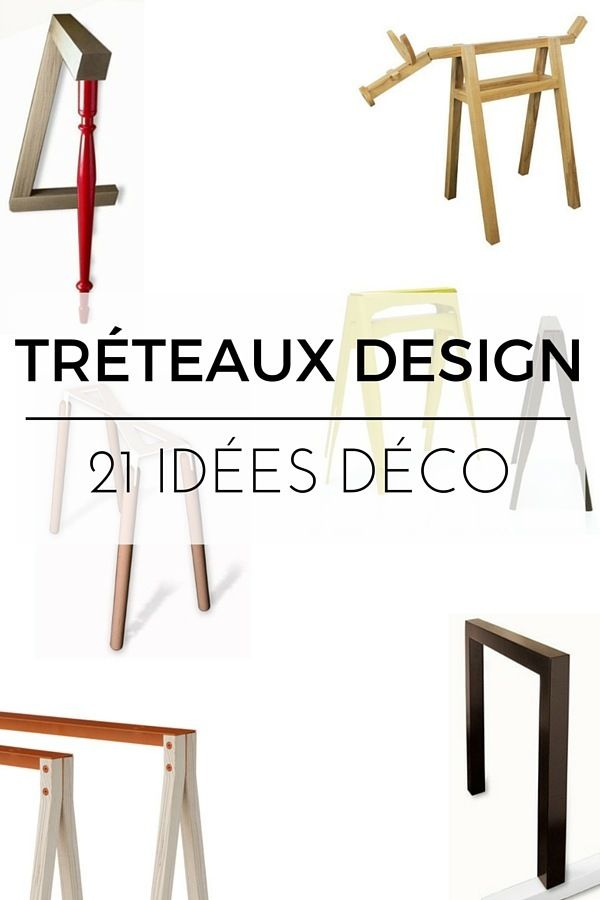 tr teaux design 21 id es pour la table ou le bureau tr teaux design tr teaux et the office. Black Bedroom Furniture Sets. Home Design Ideas