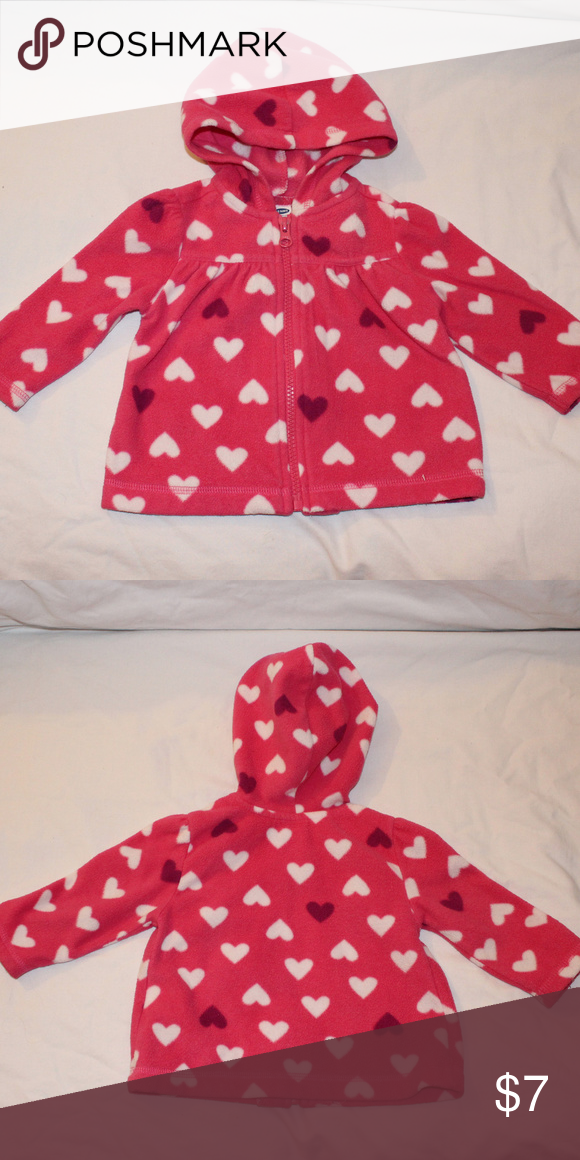 392db9f4b3f7 Old Navy Girl s Pink Hearts Jacket - 6-12 Mons Cute baby girl s Old ...