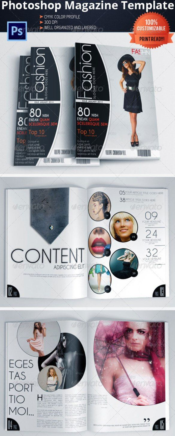 95+ Best Magazine Templates - Photoshop PSD and InDesign | Pinterest