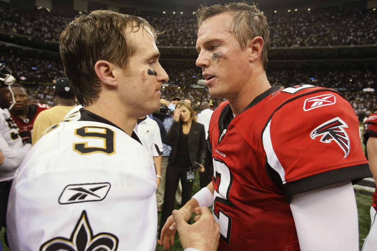 Throwback Thursday Falcons Saints Rivalry Atlanta Falcons Football Falcons Falcons Football