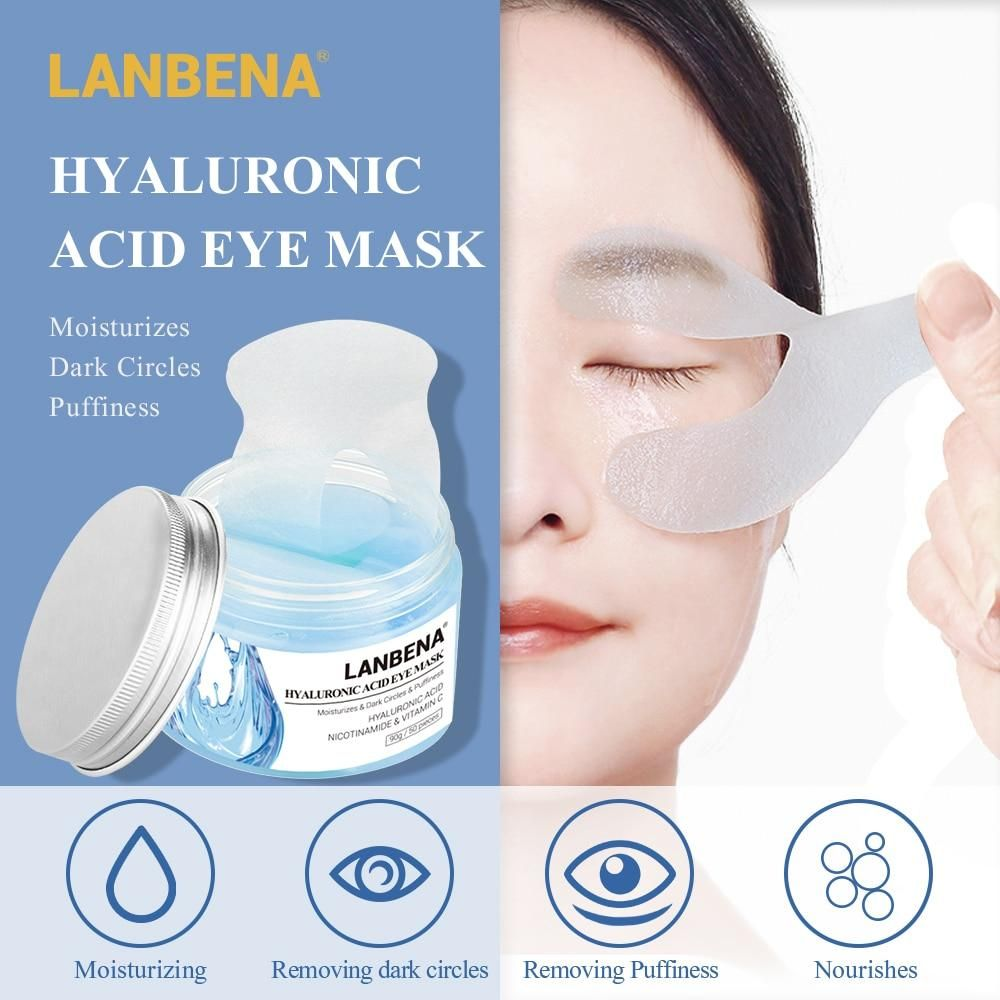 LANBENA Hyaluronic Acid Eye Mask Eye Patch Eye Care Reduces