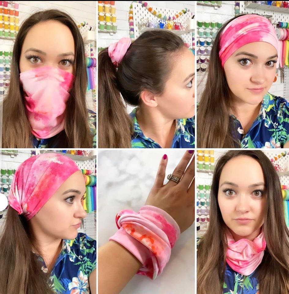How to Make a Neck Gaiter Face Mask Sweet Red Poppy in