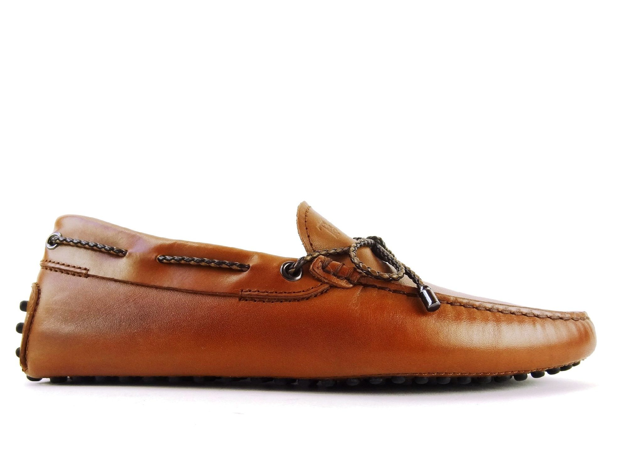 Tod's Homme tod's mocassin cuir grainé gold Marron - Chaussures Mocassins Homme