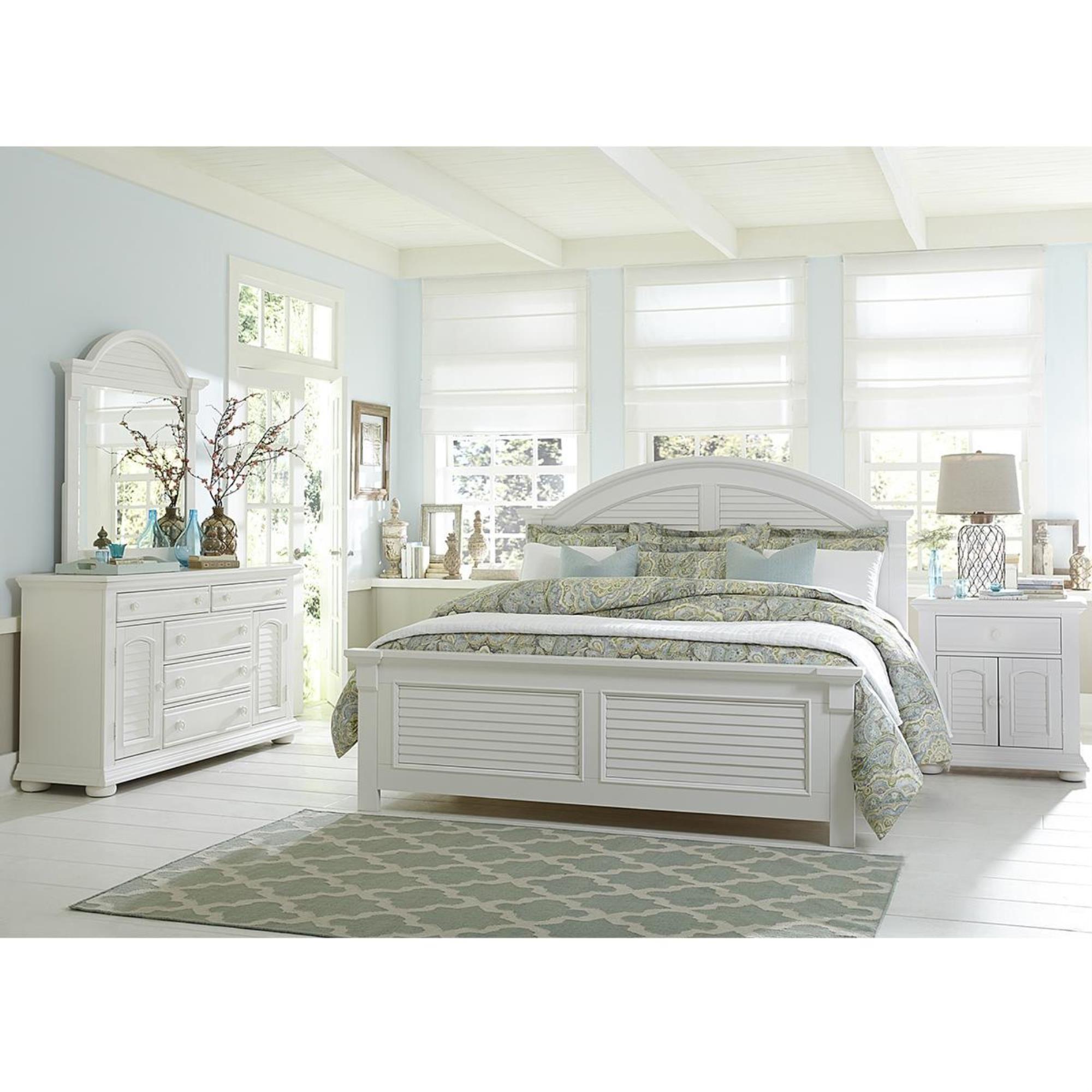 Abbey Park Antique White Panel Bedroom Set Master Bedroom Furniture White Bedroom Set Platform Bedroom Sets