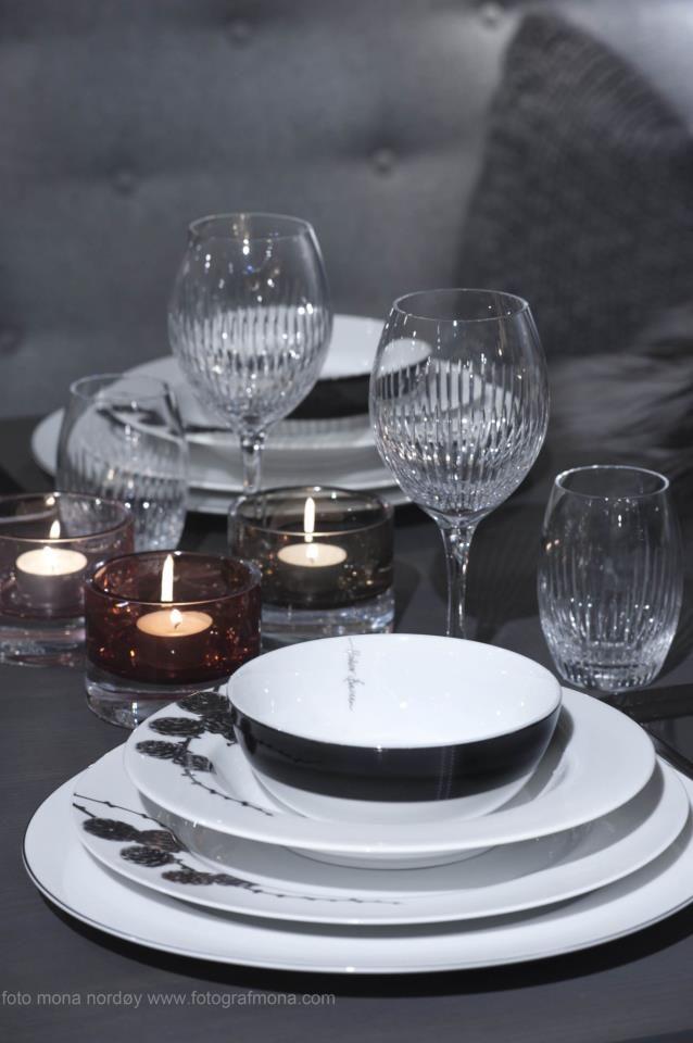 Magnor Tableware Lerk And Skyline By Halvor Bakke Alba Crystal Glass By Teresa Bergerud Krystaller Design Hjem