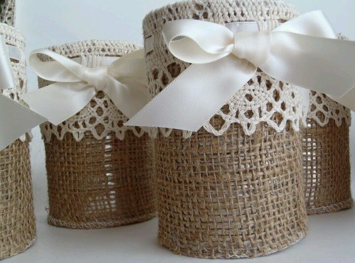 burlap wedding decorations | Burlap and lace | Wedding IDEAS, THEMES ...