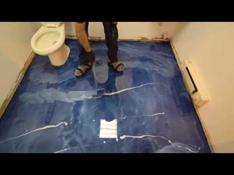 Metallic Epoxy Floor Coating Tutorial Over Vct Tile Youtube