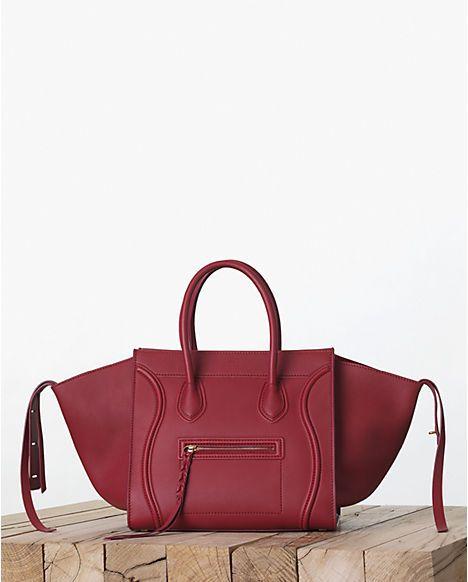 Celine Red Calfskin Phantom Bag Fall 2017