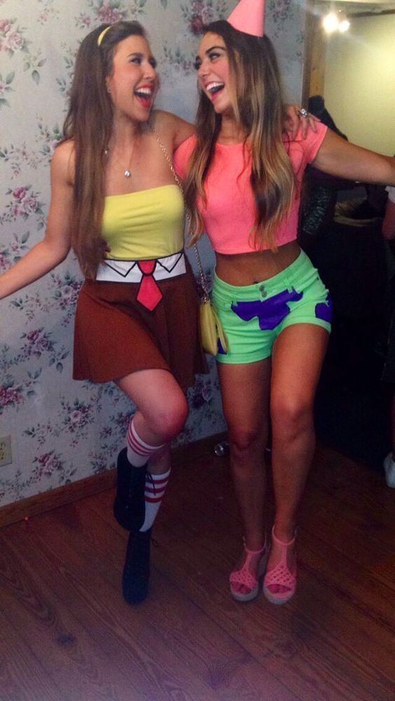 Cute Spongebob and Patrick inspired best friend costumes. Share with your friends. noruleshere.com