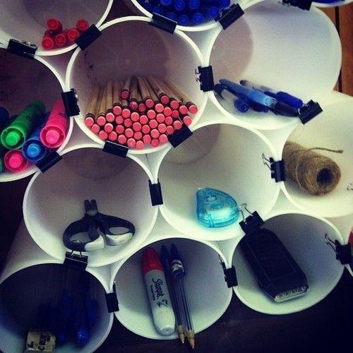 office supplies organization ideas | easy home office organization