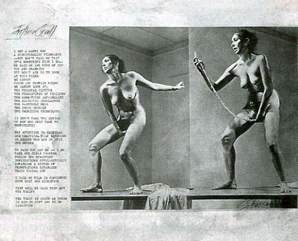 Carolee Schneeman, Interior Scroll, 1975 1977, Performance.