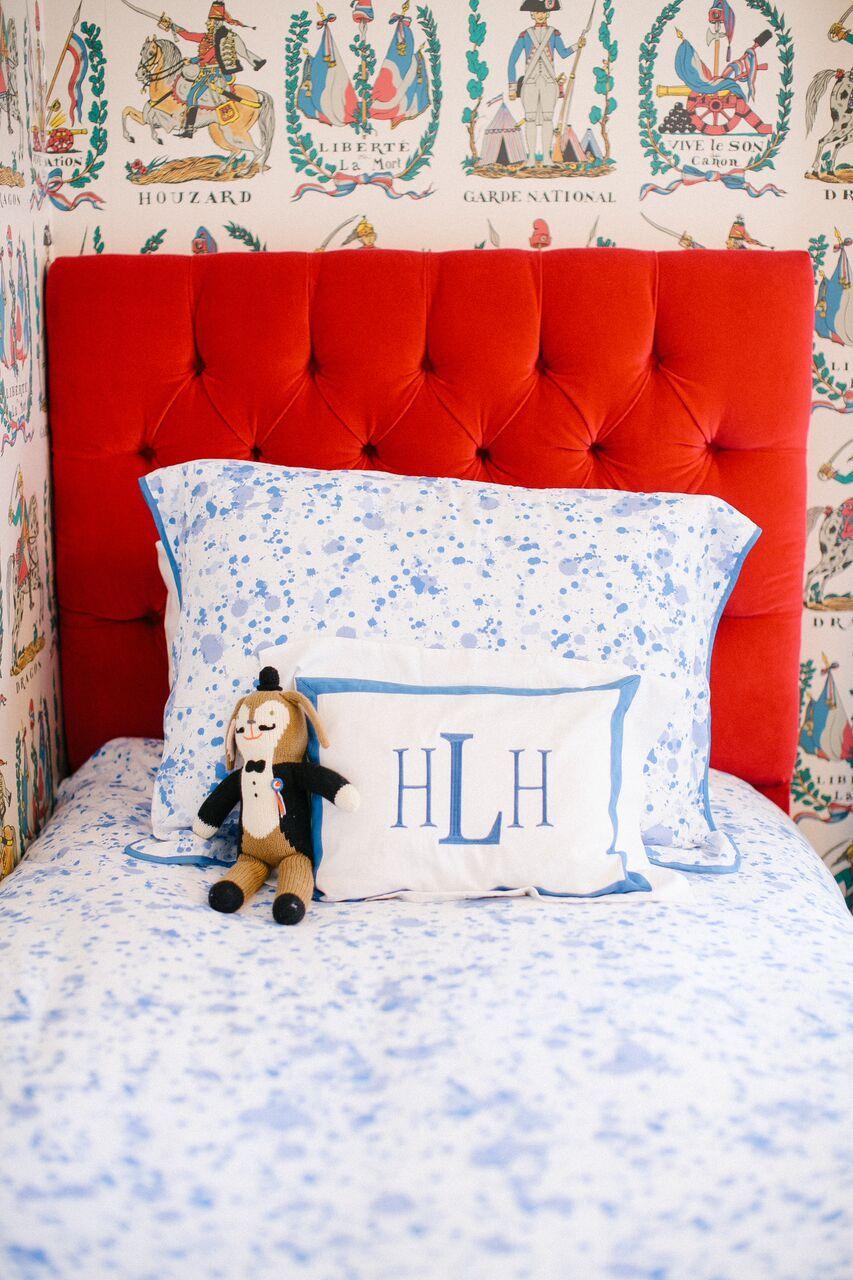 Blue Splatter Paint Bedding Little Boys Bedroom Design By